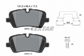 LR065492 2572001 Textar Premium Rear Brake Pad Set